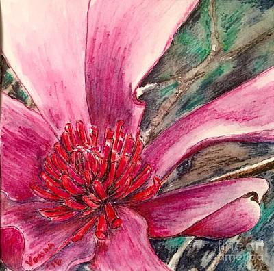 Drawing - Saucy Magnolia by Vonda Lawson-Rosa