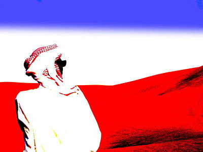 Funkpix Digital Art - Saudi Desert Man by Funkpix Photo Hunter