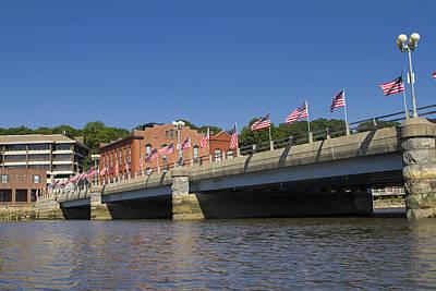 Saugatuck River Bridge Westport Connecticut Art Print by Stephanie McDowell