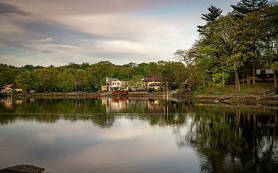 Photograph - Saugatuck River Evening By Mike-hope by Michael Hope