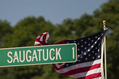 Westport Ct Photograph - Saugatuck Street Sign by Stephanie McDowell