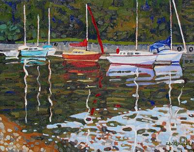 Saugeen Sailboats Art Print by Phil Chadwick