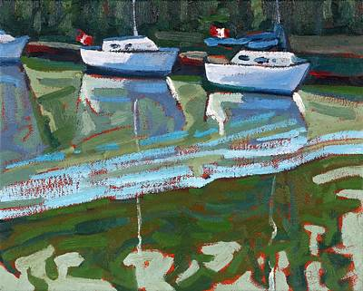 Painting - Saugeen Sailors by Phil Chadwick
