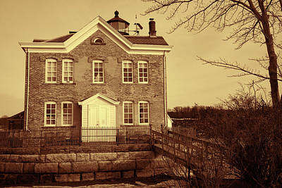 Photograph - Saugerties Lighthouse Sepia by Nancy De Flon