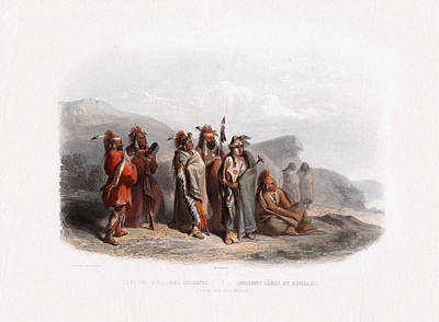 Painting - Sauki And Musquake Or Fox Wall Art Prints by Karl Bodmer