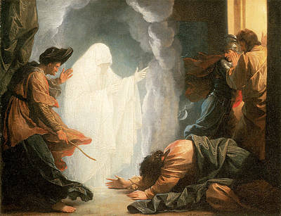 Religious Art Painting - Saul And The Witch Of Endor by Benjamin West