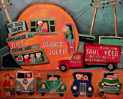 Painting - Saul Keeb Delivery At The Orange Julep by Michael Litvack