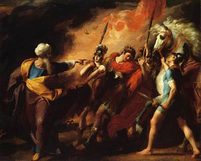 Painting - Saul Reproved By Samuel For Not Obeying The Commandments Of The Lord 1798 by Copley John Singleton