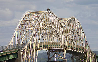 Photograph - Sault Ste Marie International Bridge Arch by Danielle Allard