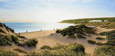 Painting - Saunton Beach by Mark Woollacott