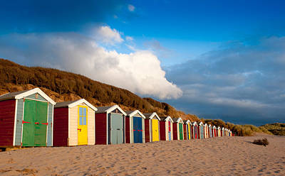Photograph - Saunton Sands Beach Huts by Helen Northcott
