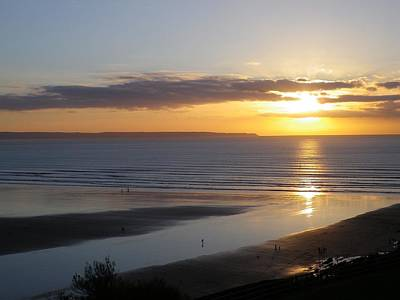 Photograph - Saunton Sands Sunset by Richard Brookes
