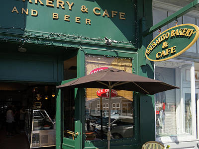 Photograph - Sausalito Bakery And Cafe On Bridgeway Sausalito California Dsc6043 by Wingsdomain Art and Photography