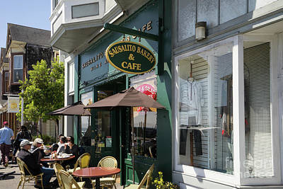 Photograph - Sausalito Bakery And Cafe On Bridgeway Sausalito California Dsc6044 by Wingsdomain Art and Photography