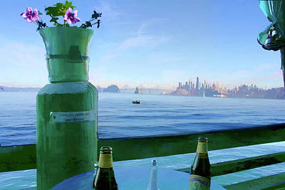 Sausalito Cafe Art Print by Michael Cleere