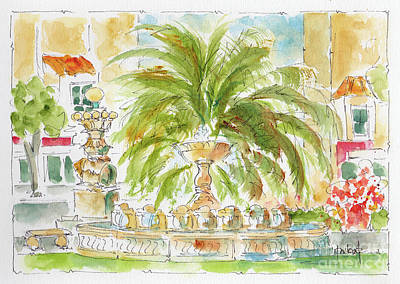 Painting - Sausalito Fountain by Pat Katz