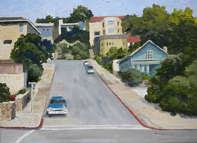 Sausalito Street Art Print by Maralyn Miller