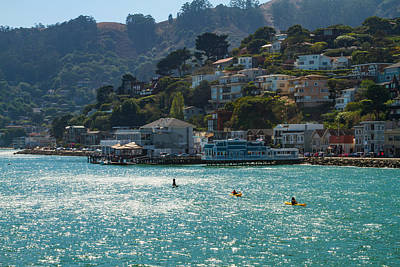 Photograph - Sausalito With Kayaks by Bonnie Follett