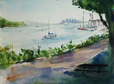 Painting - Sausalito Yacht Club by Tom Simmons