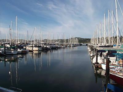 Marin County Digital Art - Sausalito Yacht Harbor - The Best Harbor In The San Francisco Bay Area. by Rich Bertolina