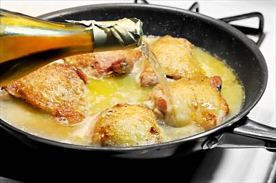 Photograph - Sauteed Chicken Thighs In  White Wine And Garlic by Diana Angstadt