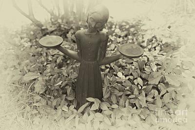 Photograph - Savannah Bird Girl Statue by Dale Powell