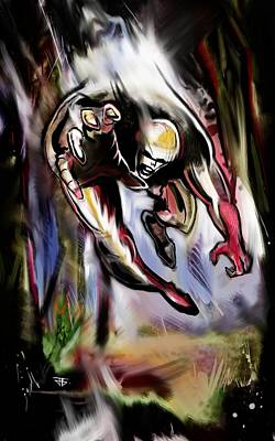 Painting - Savage Artist Looking For Brushes by John Jr Gholson