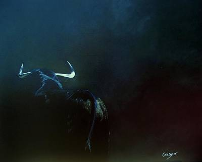 Painting - Savage Bull by Jean Yves Crispo