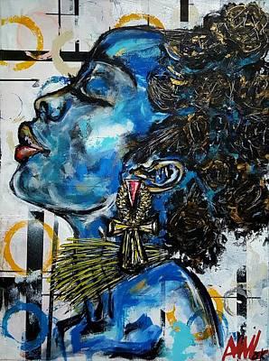 Woman Painting - Savage by Mildred Lewis