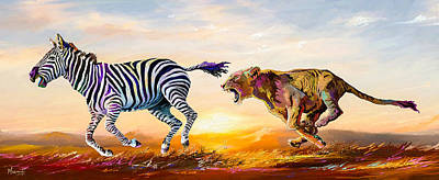 Painting - Savanna Dance by Anthony Mwangi