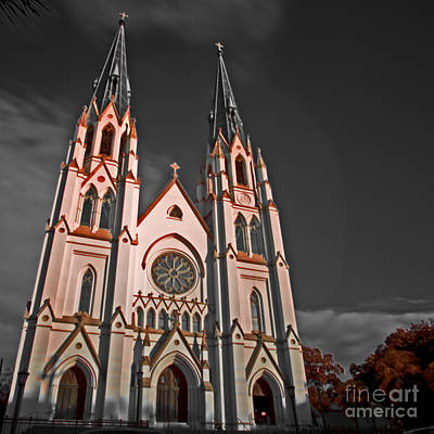 Photograph - Savanna Georia Church Color Infrared 74 by Rolf Bertram