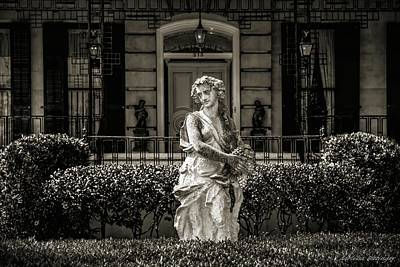 Photograph - Savannah Architecture And Statuary by Melissa Bittinger