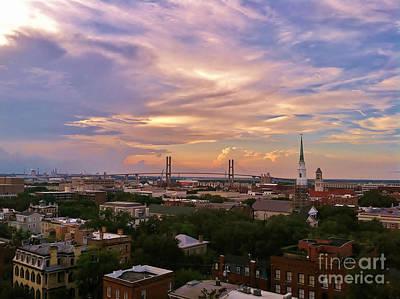 Savannah At Sunset Art Print