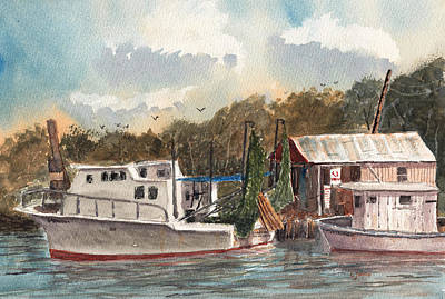 Painting - Savannah Bait - Coastal Watercolor by Barry Jones