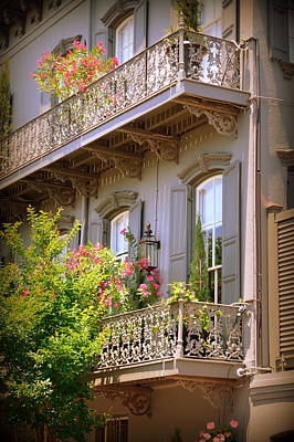 Savannah Balconies   Art Print by Linda Covino