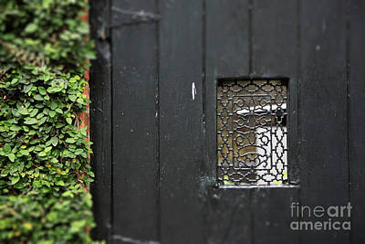 Photograph - Savannah Black Door by Heather Green