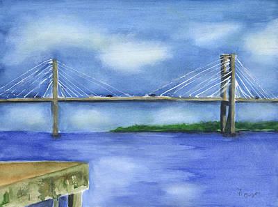 Mixed Media - Savannah Bridge by Frank Bright