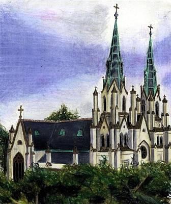 Savannah Cathedral Art Print by Scarlett Royal