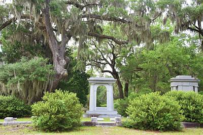 Photograph - Savannah Cemetery by Helen Haw