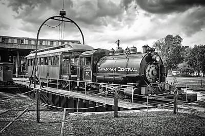 Photograph - Savannah Central Steam Engine On Turn Table by Scott Hansen