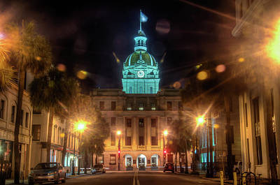 Photograph - Savannah City Hall by Daryl Clark