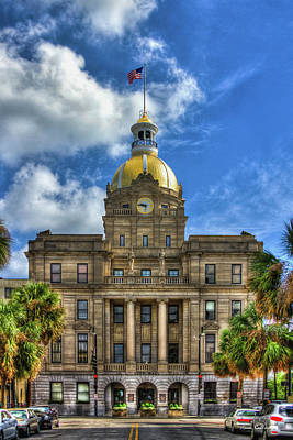 Savannah City Hall Savannah Georgia Art Art Print