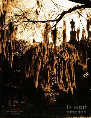 Photograph - Savannah Confederate Moss Sunset by Aberjhani's Official Postered Chromatic Poetics