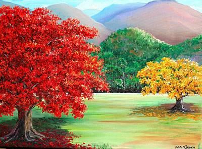 Flamboyant Tree Painting - Savannah Flamboyant by Karin  Dawn Kelshall- Best