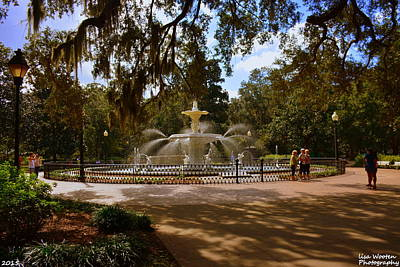 Photograph - Savannah Georgia's Forsyth Park by Lisa Wooten