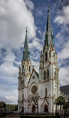 Photograph - Savannah Historic Cathedral by James Woody