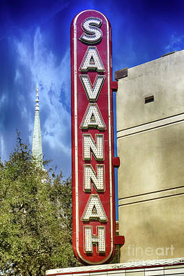 Photograph - Savannah Landmarks by Dawn Gari