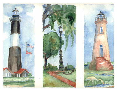 Savannah Lighthouses Art Print by Doris Blessington