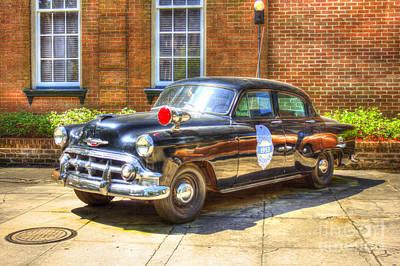 Savannah Police Car 1953 Chevrolet  Art Print by Reid Callaway