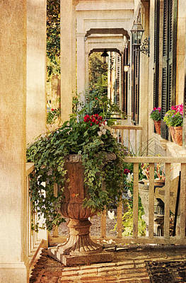 Planter Wall Art - Photograph - Savannah Porch by Kim Hojnacki